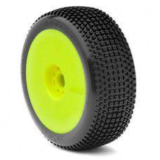 *1:8 Buggy Enduro Soft Evo Wheel Pre-Mounted Yellow  by AKA