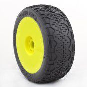 1:8 Buggy Handlebar (Super Soft) Evo Wheel Pre-Mounted Yellow, by AKA