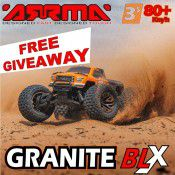 FREE giveaway!! - ARRMA RC  Granite BLX (Brushless) 80km/h Monster Truck