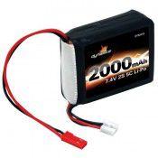 7.4V 2000mAh 2S 5C LiPo Receiver Pack: 1/8 39x52x24mm JST Plug