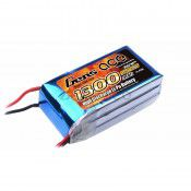 Gens-Ace 1300mAh 3S 11.1V 25C, 70x33x24mm 123g With XT60 Plug