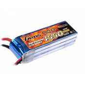 Gens-Ace 1550mAh, 11.1V, 3S1P, 25C 90x29x22mm 141g With EC3 Plug