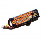 Gens Ace Lipo Battery for Receiver 7.4v 2400mAh RX For 1/8th Stick Type RX Box 90x29x17mm  90g