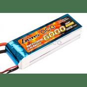 Gens Ace 6000mAh 11.1V 35C Lipo, 148x45x30mm, w/EC3 Plug