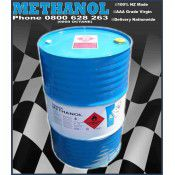 Methanol 'High Purity 99.9%' Virgin AAA per 200 litre drum. Made in N.Z