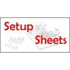 HOT Setup Sheets.