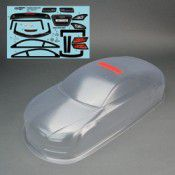 Audi Coupe Body Clear w/decal 190mm Licensed