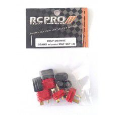 NEW Deans Plug (T Connector) set w/cover 2 pair