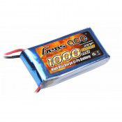 Gens Ace 1000mAh 7.4V 25C 2S1P Lipo Battery Pack With JST 35x69x12mm 58g