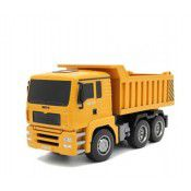 #1332 NEW 2.4G 6CH RC Dump truck 1/18 scale, all plastic by HUINA