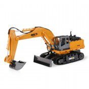 #1510 2.4G 11Ch RC Excavator w/die-cast bucket, 1/16 scale by HUINA