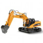 #1550 2.4G 15Ch RC Excavator w/die-cast bucket, 1/14 scale by HUINA