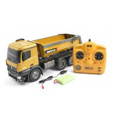#1573 NEW 2.4G 10ch RC Die-cast Dump Truck 1/14 scale by HUINA