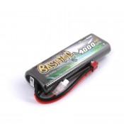 Gens Ace 4000mAh 2S 7.4v 50C 138x48x22mm 210g T Plug XH Balance Tamiya Stick Style Hardcase Basher Series