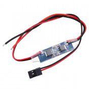 BEC 2A Cont/Burst 2-4S LiPo, 5-12NC, Output 5.0V/2A 42x12.5x4mm 8g by HTIRC