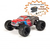 NEW Granite Voltage 2WD Mega 1/10 MT RTR Red/Black Includes Metal Gear Savox Servo NiMh Battery & Charger SRP$349 by ARRMA