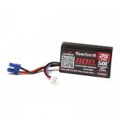 7.4V 800mAh 2S 50C Hardcase LiPo Battery: EC2 Suit Losi Mini T 2.0