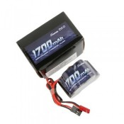 Gens Ace 6.0V 1700mAh 2/3A x 5 NiMh Hump RX Battery Pack with Dual JR-JST