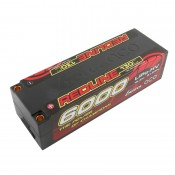 Gens Ace Redline 6000mAh 4S HV 15.2v 130C Low Profile Hard Case with 5mm Bullet 447g 139x47x37mm