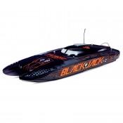 Blackjack 42-inch Brushless 8S Catamaran, Black/Oranage:RTR 55+ Mph by Pro Boat SRP $1195