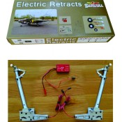 JP Hobby Electric Retract Set 3pcs (Mains/Tail) for SKYRAIDER 100 degree rotating with PU 5in wheels/Electric Tail Retract w/2in wheel by Seagull Models