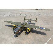 Giant Mitchell B-25 span 95in, 20cc w/3pcs Alloy Hub Rubber wheels 4.5in (2) and 2.75in, JP Hobby15mm Electric Retracts, by Seagull Models