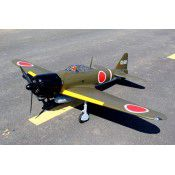 Giant Scale ZERO span 86in, 50-60cc w/Transparent 500m tank, Alloy Hub Rubber 4in wheels, JP Hobby 15mm Electric Retracts, by Seagul Models