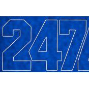 Numbers Blue 2in