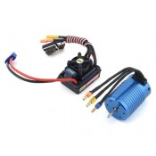 1/10 4-Pole 4000kv Brushless Motor & 70Amp ESC Combo 2-3s Lipo, Pre Wire 3.5mm Motor plugs and EC3 Battery Plug