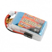 Gens Ace 2600mAh 2S 7.4v Hump RX Pack 55x30x31mm 130g JR Plug and XH Balance. Suit 1/8th Buggy RX Box